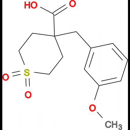 4-(3-Methoxybenzyl)tetrahydro-2H-thiopyran-4-carboxylic acid 1,1-dioxide
