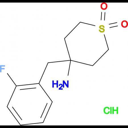 4-Amino-4-(2-fluorobenzyl)tetrahydro-2H-thiopyran 1,1-dioxide hydrochloride