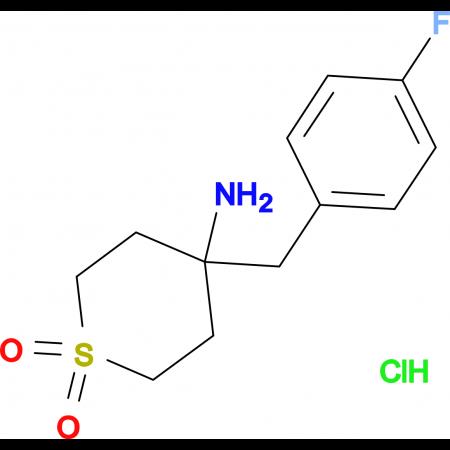 4-Amino-4-[(4-fluorophenyl)methyl]-1Lambda(6)-thiane-1,1-dione hydrochloride