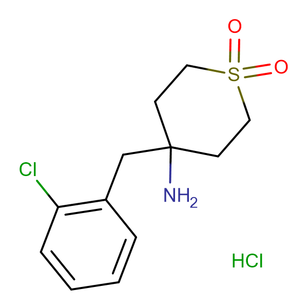 4-Amino-4-(2-chlorobenzyl)tetrahydro-2H-thiopyran 1,1-dioxide hydrochloride