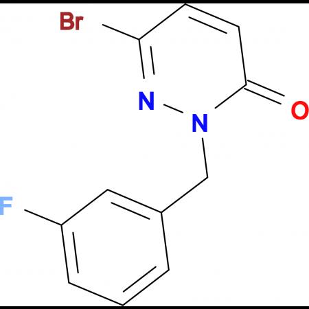 6-Bromo-2-(3-fluorobenzyl)pyridazin-3(2H)-one