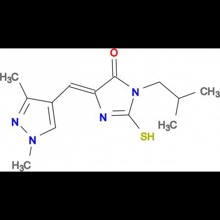 (5E)-5-[(1,3-dimethyl-1H-pyrazol-4-yl)methylene]-3-isobutyl-2-mercapto-3,5-dihydro-4H-imidazol-4-one