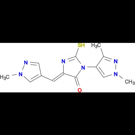 (5Z)-3-(1,3-dimethyl-1H-pyrazol-4-yl)-2-mercapto-5-[(1-methyl-1H-pyrazol-4-yl)methylene]-3,5-dihydro-4H-imidazol-4-one