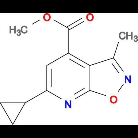 methyl 6-cyclopropyl-3-methylisoxazolo[5,4-b]pyridine-4-carboxylate