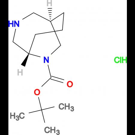 tert-butyl rac-(1S,5R)-3,9-diazabicyclo[3.3.2]decane-9-carboxylate hydrochloride