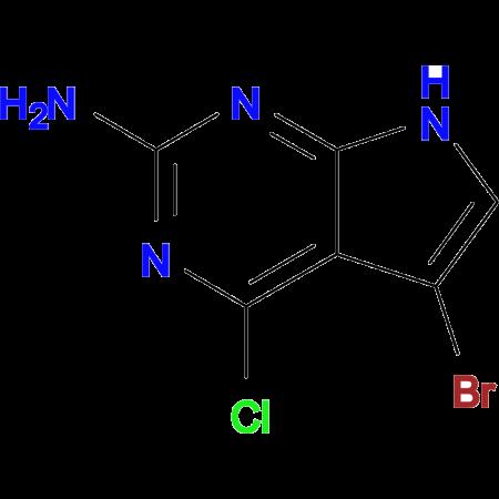 5-Bromo-4-chloro-7H-pyrrolo[2,3-d]pyrimidin-2-amine