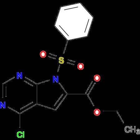 Ethyl 4-chloro-7-(phenylsulfonyl)-7H-pyrrolo[2,3-d]pyrimidine-6-carboxylate