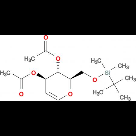 (2R,3S,4R)-2-(((tert-Butyldimethylsilyl)oxy)methyl)-3,4-dihydro-2H-pyran-3,4-diyl diacetate
