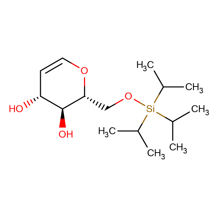 (2R,3S,4R)-2-(((Triisopropylsilyl)oxy)methyl)-3,4-dihydro-2H-pyran-3,4-diol