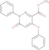 Methyl 6-oxo-4-phenoxy-1-phenyl-1,6-dihydropyridazine-3-carboxylate