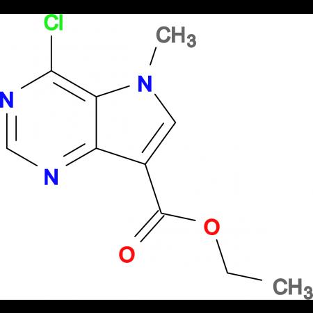 Ethyl 4-chloro-5-methyl-5H-pyrrolo[3,2-d]pyrimidine-7-carboxylate