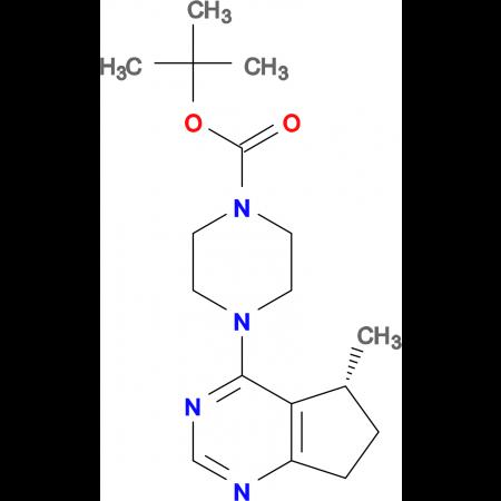 (R)-tert-Butyl 4-(5-methyl-6,7-dihydro-5H-cyclopenta[d]pyrimidin-4-yl)piperazine-1-carboxylate