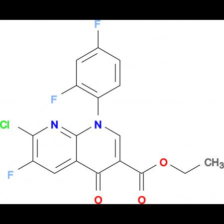 Ethyl 7-chloro-1-(2,4-difluorophenyl)-6-fluoro-4-oxo-1,4-dihydro-1,8-naphthyridine-3-carboxylate