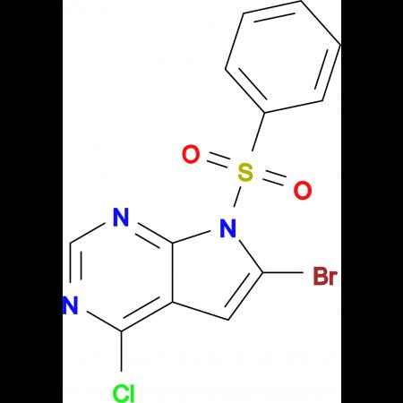 6-Bromo-4-chloro-7-(phenylsulfonyl)-7H-pyrrolo[2,3-d]pyrimidine