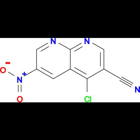 4-CHLORO-6-NITRO-1,8-NAPHTHYRIDINE-3-CARBONITRILE