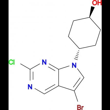 (1R,4R)-4-(5-BROMO-2-CHLORO-7H-PYRROLO[2,3-D]PYRIMIDIN-7-YL)CYCLOHEXANOL