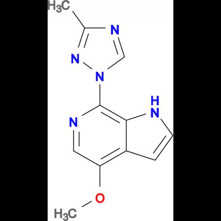 1H-PYRROLO[2,3-C]PYRIDINE, 4-METHOXY-7-(3-METHYL-1H-1,2,4-TRIAZOL-1-YL)-