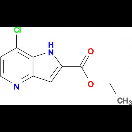 ETHYL 7-CHLORO-1H-PYRROLO[3,2-B]PYRIDINE-2-CARBOXYLATE