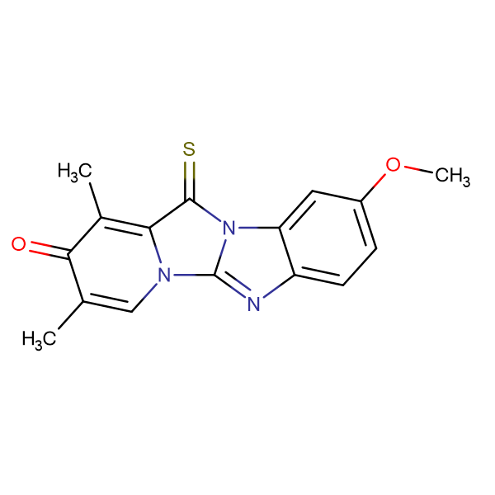 9-METHOXY-1,3-DIMETHYL-12-THIOXO-PYRIDO[1',2',3,4]IMIDAZO[1,2-A]BENZIMIDAZOL-2-(12H)-ONE