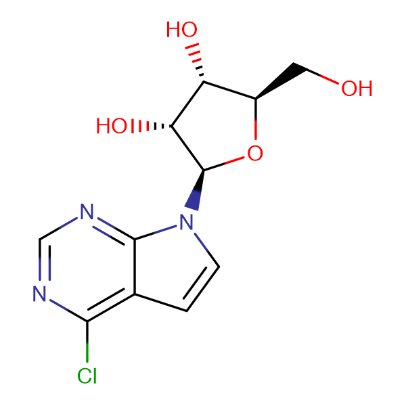 6-CHLORO-7-DEAZAPURINE-BETA-D-RIBOSIDE