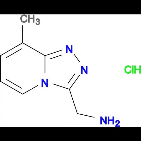 C-(8-METHYL-[1,2,4]TRIAZOLO[4,3-A]PYRIDIN-3-YL)-METHYLAMINE HCL
