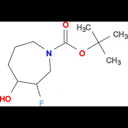 TERT-BUTYL 3-FLUORO-4-HYDROXYAZEPANE-1-CARBOXYLATE