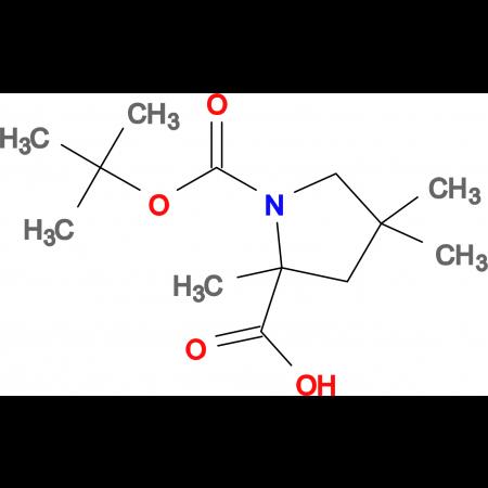 1-(TERT-BUTOXYCARBONYL)-2,4,4-TRIMETHYLPYRROLIDINE-2-CARBOXYLIC ACID