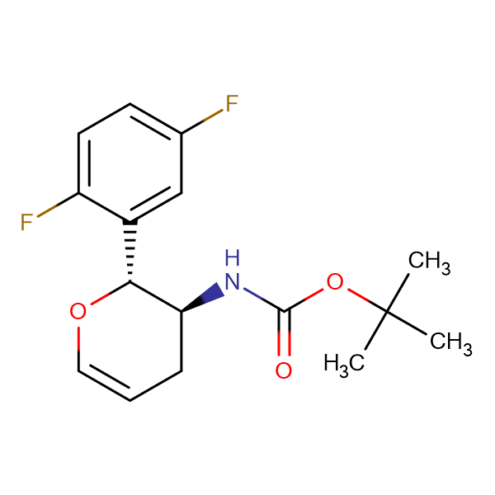 N-[(2R,3S)-2-(2,5-DIFLUOROPHENYL)-3,4-DIHYDRO-2H-PYRAN-3-YL]-CARBAMIC ACID 1,1-DIMETHYLETHYL ESTER