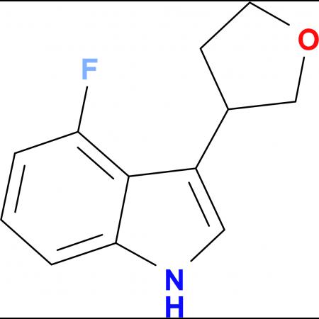 4-Fluoro-3-(tetrahydrofuran-3-yl)-1H-indole