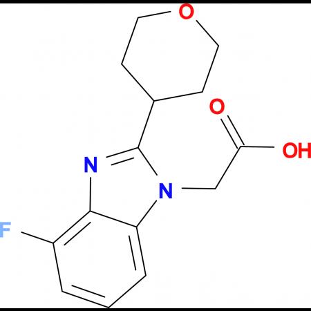 2-[4-Fluoro-2-(tetrahydro-2H-pyran-4-yl)-1H-benzo[d]imidazol-1-yl]acetic acid