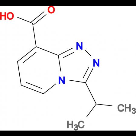 3-Isopropyl-[1,2,4]triazolo[4,3-a]pyridine-8-carboxylic acid