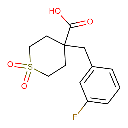 4-[(3-Fluorophenyl)methyl]-1,1-dioxo-1Lambda(6)-thiane-4-carboxylic acid