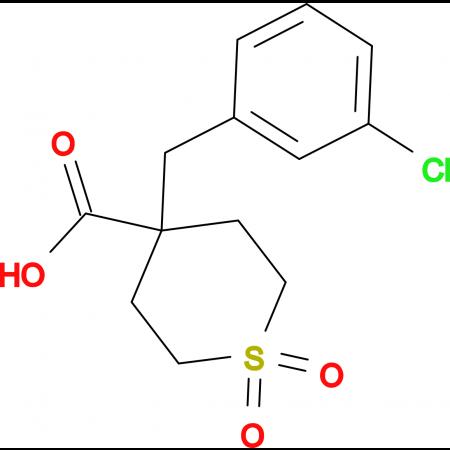 4-[(3-Chlorophenyl)methyl]-1,1-dioxo-1Lambda(6)-thiane-4-carboxylic acid