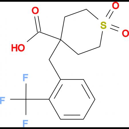 1,1-Dioxo-4-{[2-(trifluoromethyl)phenyl]methyl}-1Lambda(6)-thiane-4-carboxylic acid