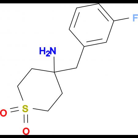 4-Amino-4-[(3-fluorophenyl)methyl]-1Lambda(6)-thiane- 1,1-dione