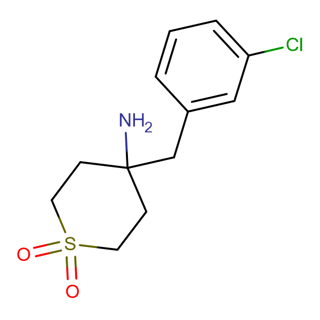 4-Amino-4-[(3-chlorophenyl)methyl]-1Lambda(6)-thiane- 1,1-dione