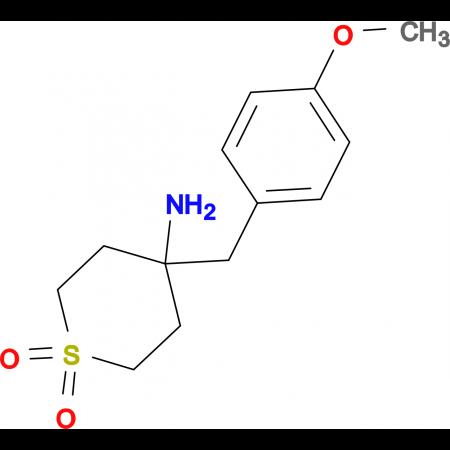 4-Amino-4-[(4-methoxyphenyl)methyl]-1Lambda(6)-thiane-1,1-dione