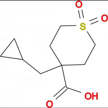 4-(Cyclopropylmethyl)-1,1-dioxo-1Lambda(6)-thiane-4-carboxylic acid