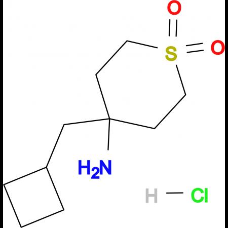 4-Amino-4-(cyclobutylmethyl)-1Lambda(6)-thiane-1,1-dione hydrochloride