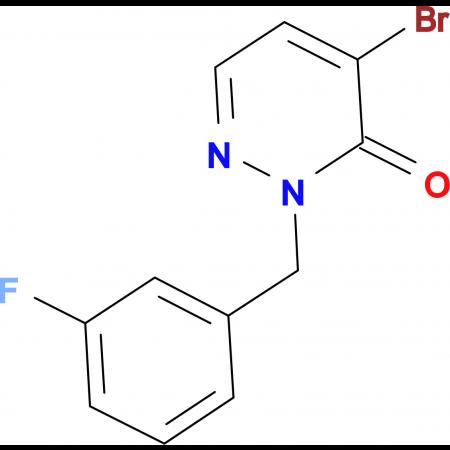 4-Bromo-2-(3-fluorobenzyl)pyridazin-3(2H)-one
