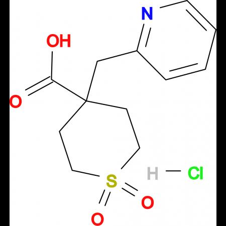1,1-Dioxo-4-(pyridin-2-ylmethyl)-1Lambda(6)-thiane-4-carboxylic acid hydrochloride