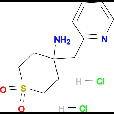 4-Amino-4-(pyridin-2-ylmethyl)-1Lambda(6)-thiane-1,1-dione dihydrochloride