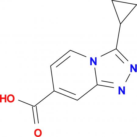 3-Cyclopropyl-[1,2,4]triazolo[4,3-a]pyridine-7-carboxylic acid