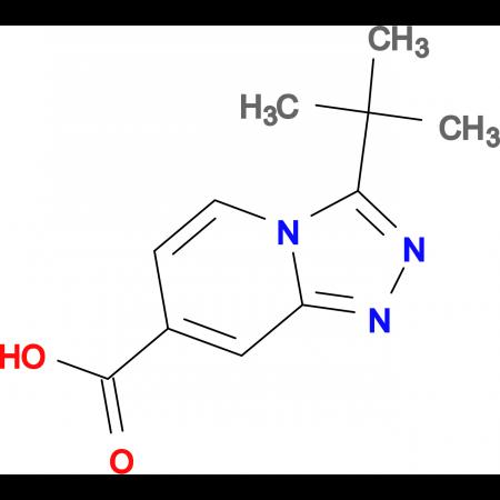 3-tert-Butyl-[1,2,4]triazolo[4,3-a]pyridine-7-carboxylic acid