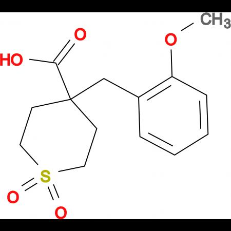 4-[(2-Methoxyphenyl)methyl]-1,1-dioxo-1lambda(6)-thiane-4-carboxylic acid