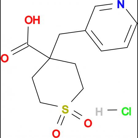 1,1-Dioxo-4-(pyridin-3-ylmethyl)-1lambda(6)-thiane-4-carboxylic acid hydrochloride