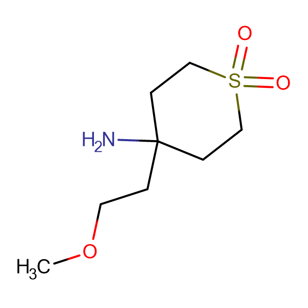 4-Amino-4-(2-methoxyethyl)-1lambda(6)-thiane-1,1-dione