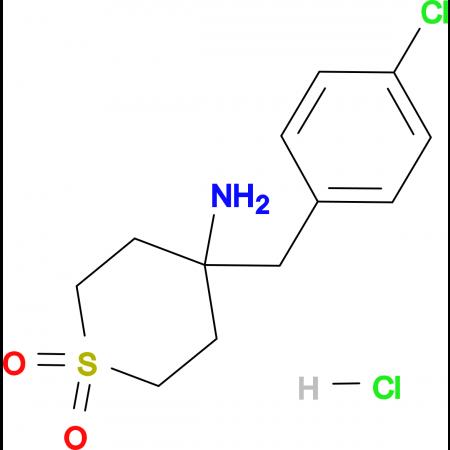 4-Amino-4-[(4-chlorophenyl)methyl]-1lambda(6)-thiane-1,1-dione hydrochloride