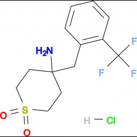 4-Amino-4-{[2-(trifluoromethyl)phenyl]methyl}-1lambda(6)-thiane-1,1-dione hydrochloride