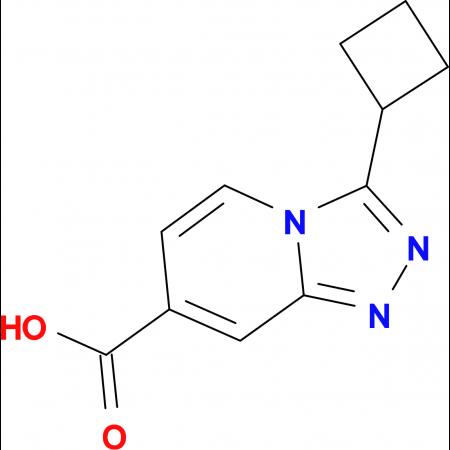 3-Cyclobutyl-[1,2,4]triazolo[4,3-a]pyridine-7-carboxylic acid